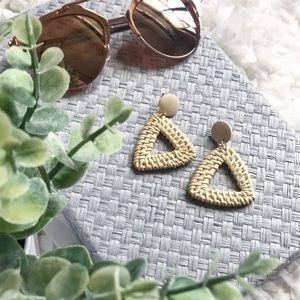 Jewelry - Wooden & Woven Earrings